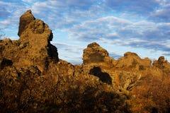 Dimmuborgir near Myvatn lake Stock Image