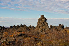 Dimmuborgir near Myvatn lake Royalty Free Stock Photos