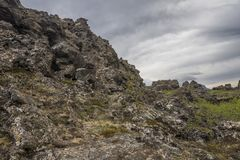 Dimmuborgir rock formations Royalty Free Stock Photography