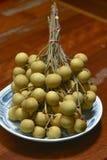 Dimocarpus longan świeży obraz stock