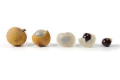 Dimocarpus longan Thai fruit isolated on white Royalty Free Stock Photography