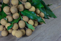 Dimocarpus, longan on wood,still life Royalty Free Stock Images