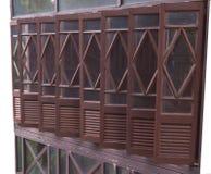 Dimond cut pattern of window. Dimond cut pattern at frame of window Stock Image