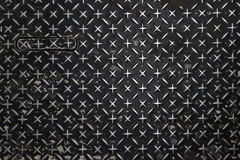 Dimond metal plate. Dark grunge diamond metal plate background Stock Photo