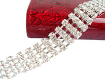 Dimond necklace with purse Stock Photo