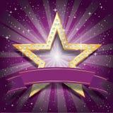 Dimond star purple burst Stock Photo