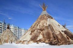 Dimora della gente nordica della Siberia Fotografia Stock