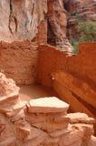 Dimore di scogliera indiane di Sinagua Fotografia Stock