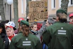 Dimostrante catturato dalla polizia Fotografie Stock