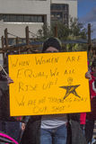 Dimostrante che protesta per i diritti uguali per tutti Fotografia Stock