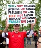 Dimostrante turco Fotografia Stock