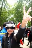 Dimostrante turco Immagini Stock