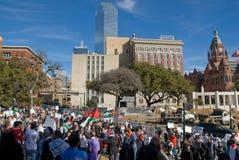 Dimostranti di guerra di Peacefull Fotografia Stock