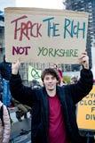Dimostranti di ribellione di estinzione sul ponte di Westminster, Londra fotografia stock
