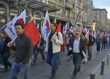 Dimostranti greci Immagine Stock Libera da Diritti