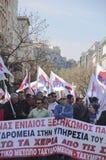 Dimostranti greci a Atene Fotografie Stock Libere da Diritti