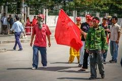 Dimostranti politici Fotografia Stock Libera da Diritti
