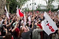 Dimostranti in Turchia nel giugno 2013 Immagine Stock Libera da Diritti