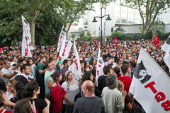 Dimostranti in Turchia nel giugno 2013 Fotografie Stock