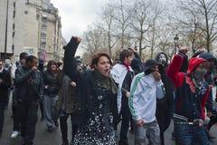 Dimostrazione anonima contro l'ACTA del Internet fotografie stock