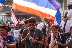 Dimostrazione antigovernativa Tailandia Immagine Stock Libera da Diritti