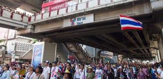 Dimostrazione antigovernativa Tailandia Fotografie Stock