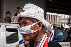 Dimostrazione antigovernativa Tailandia Fotografie Stock Libere da Diritti