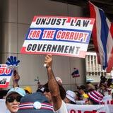 Dimostrazione antigovernativa in Tailandia Fotografie Stock Libere da Diritti