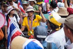 Dimostrazione antigovernativa Tailandia Immagini Stock