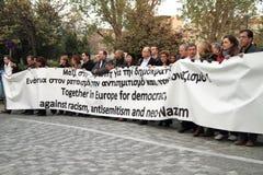 Dimostrazione a Atene Fotografia Stock Libera da Diritti