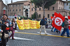 Dimostrazione comunista Fotografie Stock
