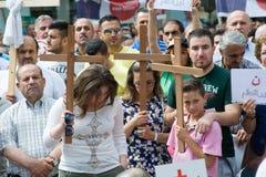 Dimostrazione contro l'uccisione fotografia stock libera da diritti