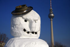 Dimostrazione dei pupazzi di neve Fotografia Stock Libera da Diritti