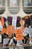 dimostrazione del Anti-Presidente Immagine Stock Libera da Diritti