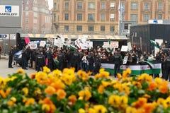 Dimostrazione della gente siriana Fotografie Stock Libere da Diritti