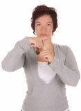 Dimostrazione della mano, Fotografia Stock Libera da Diritti