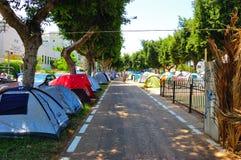 Dimostrazione della tenda di Tel Aviv Immagini Stock Libere da Diritti