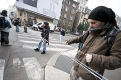 Dimostrazione di allievo a Milano il 22 dicembre 2010 Immagine Stock Libera da Diritti