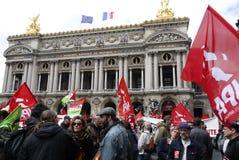 dimostrazione di Anti-fascismo a Parigi Fotografie Stock Libere da Diritti