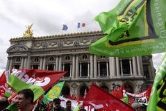 dimostrazione di Anti-fascismo a Parigi Fotografie Stock