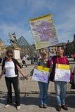 Dimostrazione di energia antinucleare, Parigi Immagini Stock
