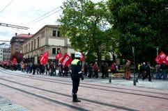 Dimostrazione di giorno Labour in Vitoria-Gasteiz Fotografie Stock Libere da Diritti