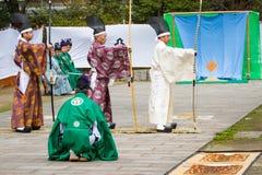 Dimostrazione di Kyudo Immagini Stock