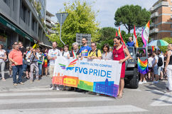 Dimostrazione di orgoglio di Fvg Udine - in Italia 9 giugno 2017 Immagine Stock