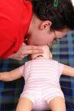 Dimostrazione di respirazione artificiale Fotografia Stock