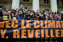 Dimostrazione di riscaldamento globale di Parigi Francia Fotografia Stock Libera da Diritti