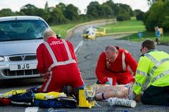 Dimostrazione di servizi medici di emergenza Fotografia Stock