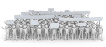Dimostrazione - folla enorme illustrazione vettoriale