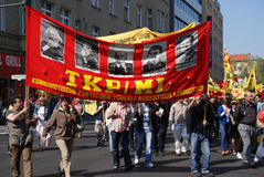 Dimostrazione il giorno di maggio Immagine Stock Libera da Diritti