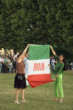 Dimostrazione iraniana a Parigi, 25 luglio 2009 Fotografia Stock Libera da Diritti